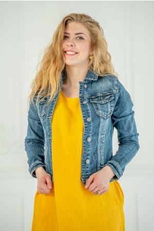 JEAN JACKET, DARK BLUE