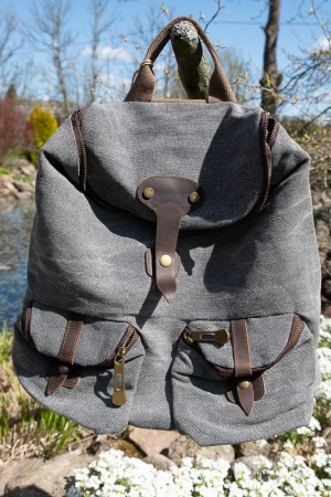 TAYLEN LINEN BACKPACK