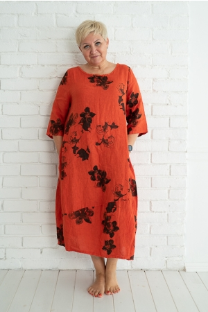 ANNAPLUM LINANE KLEIT,ORANGE