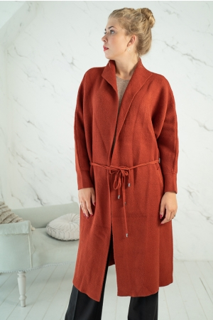 SUPERBUM CARDIGAN,DARK RED