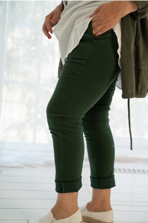 FEEL THIS MOMENT TROUSERS, GREEN