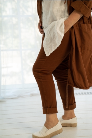 FEEL THIS MOMENT TROUSERS, CAMEL