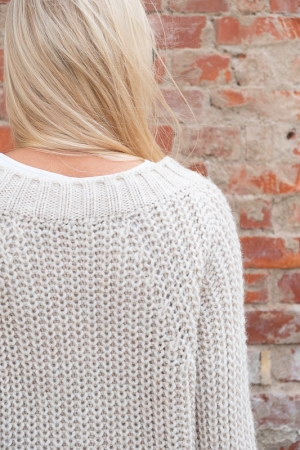 COZY WOOL SWEATER, BEIGE