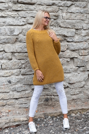 COZY WOOL SWEATER, MUSTARD