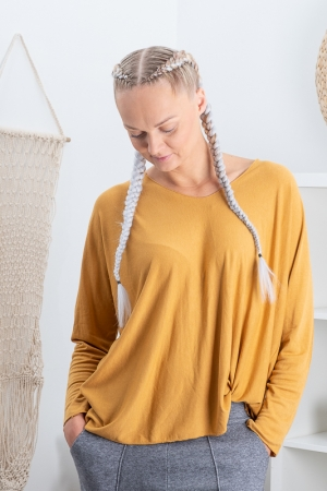 CALIMBA BLOUSE, MUSTARD