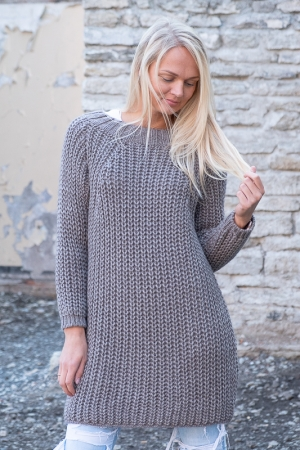 COZY WOOL SWEATER, CAPPUCCINO