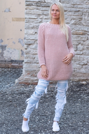 COZY WOOL SWEATER, PINK