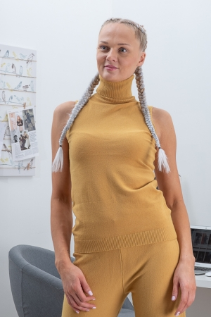 CANNOVA TURTLENECK,MUSTARD