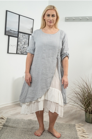 ROMANTIC LINANE KLEIT, LIGHT GREY