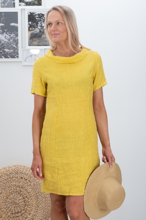 BASIL LINEN DRESS, GIRASOLE
