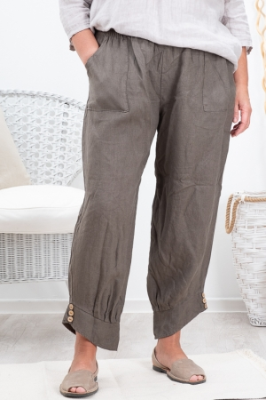 BAY LINEN PANTS, FANGO
