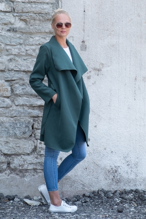 CRYSTAL WORLD WOOLEN COAT, GREEN