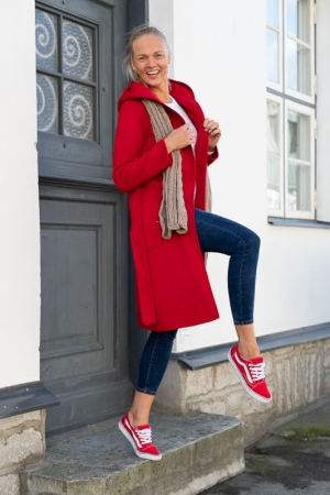 SNOWBALL COAT, RED