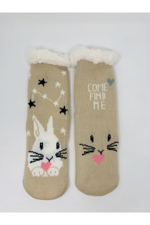 Warm anti-slip home socks
