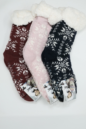 3 PAIR Warm thermos socks with non-slip sole