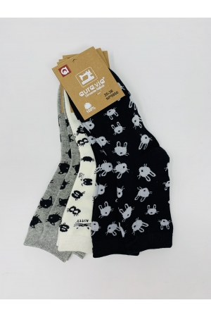 5 PAIRS Socks with kitten pictures