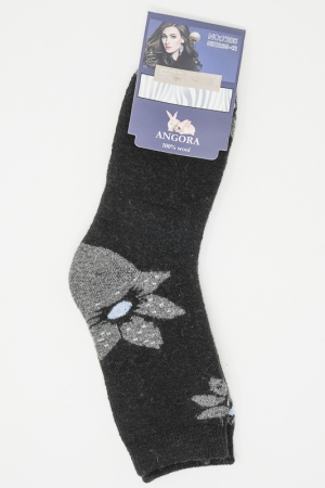 Warm angora wool socks