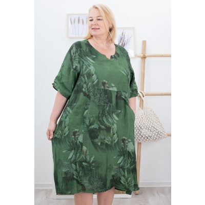 LINDEN LINANE KLEIT, DARK GREEN