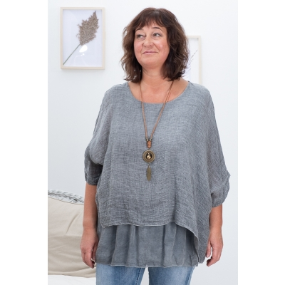 SILKI LINANE PLUUS, MEDIUM GREY